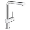 Grohe Minta Kitchen Sink Mixer with Pull Out Spray - Chrome - 30274000 profile small image view 1