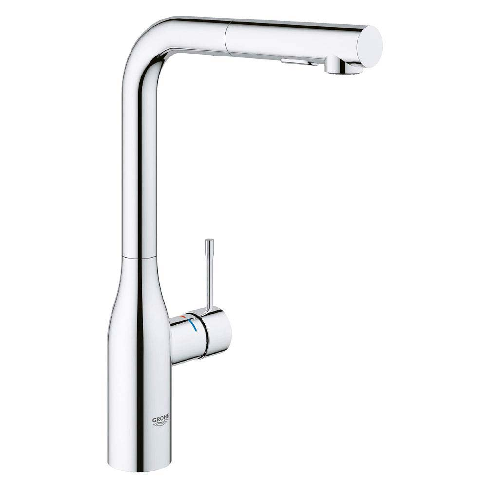 Grohe Essence Footcontrol Electronic Kitchen Sink Mixer with Pull Out Spray - Chrome - 30311000 profile large image view 1