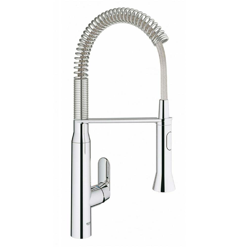 Grohe K7 Footcontrol Electronic Kitchen Sink Mixer with Professional Spray - Chrome - 30312000 Large