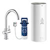 Grohe RED Duo Instant Boiling Water Kitchen Tap and L Size Boiler - Chrome - 30328001 profile small image view 1