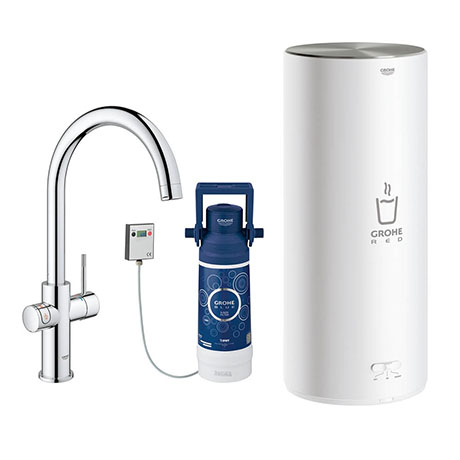 Grohe RED Duo Instant Boiling Water Kitchen Tap and L Size Boiler - Chrome - 30328001
