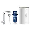 Grohe Red 2.0 Mono Pillar Instant Boiling Water Kitchen Tap and M Size Boiler - 30329001 profile small image view 1