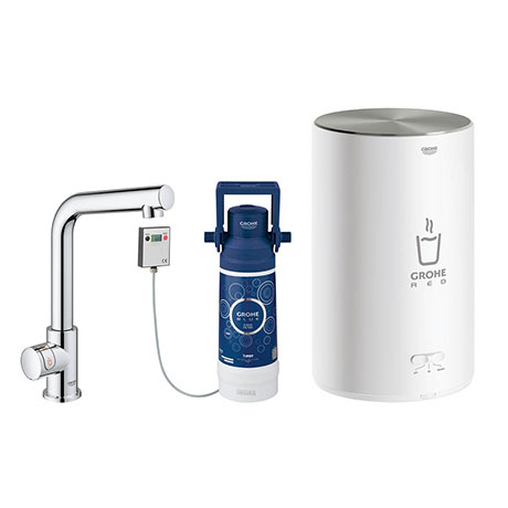 Grohe Red 2.0 Mono Pillar Instant Boiling Water Kitchen Tap and M Size Boiler - 30329001