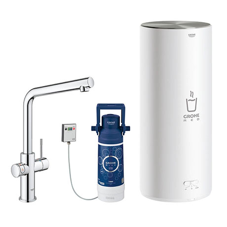 Grohe RED Duo Instant Boiling Water Kitchen Tap and L Size Boiler - Chrome - 30340001