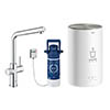 Grohe RED Duo Instant Boiling Water Kitchen Tap and M Size Boiler - Chrome - 30341001 profile small image view 1