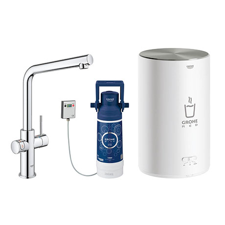 Grohe Red 2.0 Duo Instant Boiling Water Kitchen Tap and M Size Boiler - Chrome - 30341001