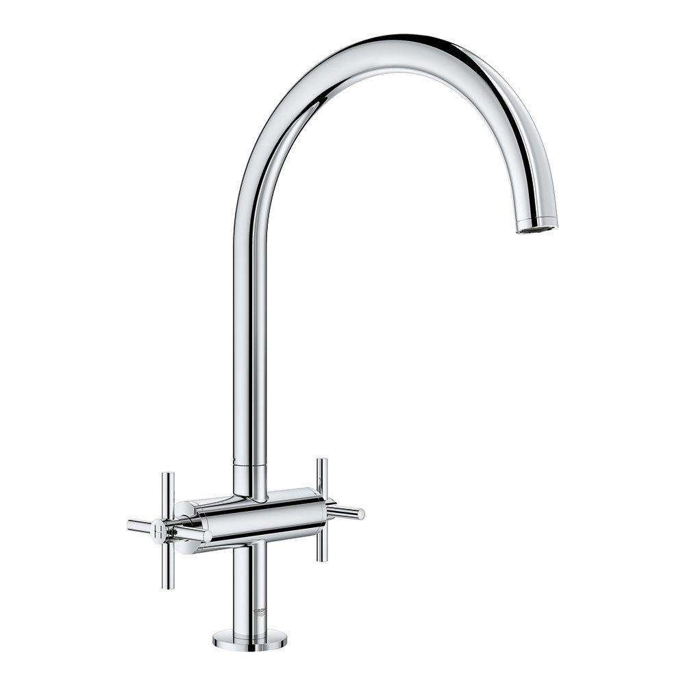 Grohe Atrio Two Handle Kitchen Sink Mixer - Chrome - 30362000