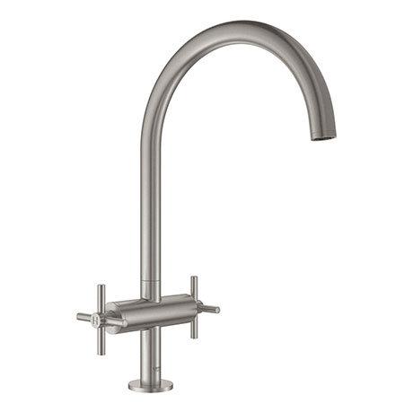 Grohe Atrio Two Handle Kitchen Sink Mixer - SuperSteel - 30362DC0