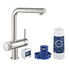 Grohe Blue Pure Minta Filtered Tap - Stainless Steel - 30382DC0 profile small image view 1