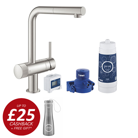 Grohe Blue Pure Minta Filtered Tap - Stainless Steel - 30382DC0