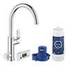 Grohe Blue Pure Duo Filtered Eurosmart Tap - 30383000 profile small image view 1