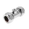 15mm Chrome Isolating Valve profile small image view 1