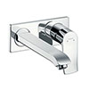 hansgrohe Metris Wall Mounted Single Lever Basin Mixer with Waste (Long Spout) - 31086000 profile small image view 1