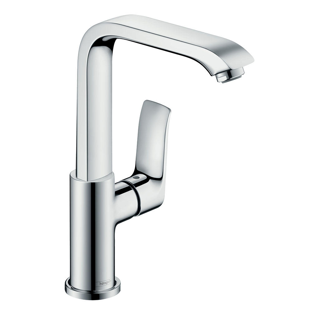 hansgrohe Metris Single Lever Basin Mixer 230 with Swivel Spout and Pop-up Waste - 31087000