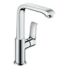 hansgrohe Metris Single Lever Basin Mixer 230 with Swivel Spout and Pop-up Waste - 31087000 profile small image view 1
