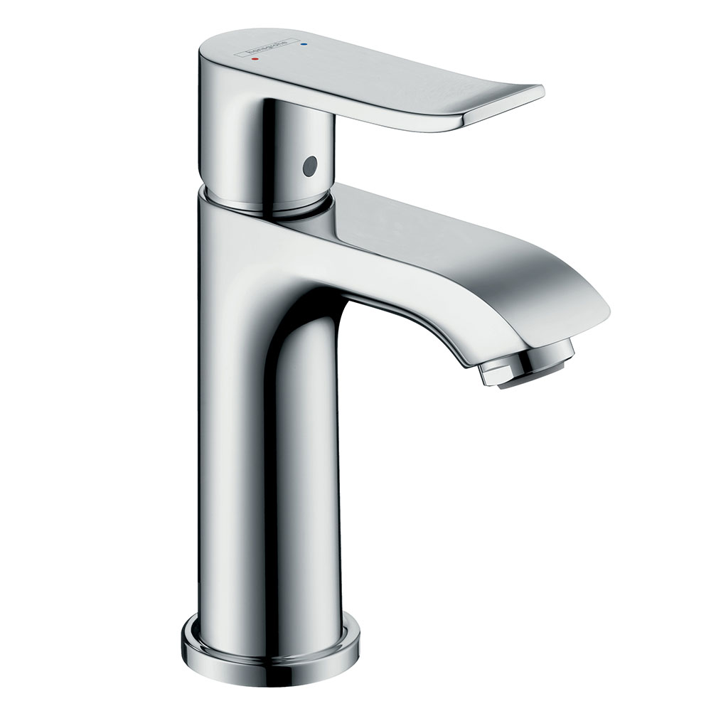 hansgrohe Metris Cloakroom Single Lever Basin Mixer 100 with Pop-up Waste - 31088000