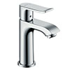 hansgrohe Metris Cloakroom Single Lever Basin Mixer 100 with Pop-up Waste - 31088000 profile small image view 1