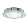 Searchlight Chrome Flush Fitting with Opal Glass - 3108CC profile small image view 1