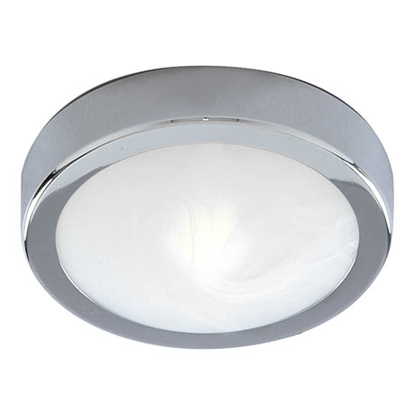 Searchlight Chrome Flush Fitting with Marble Glass - 3109CC