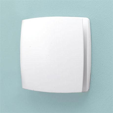 HIB Breeze Wall Mounted Bathroom Fan with Timer - White - 31100
