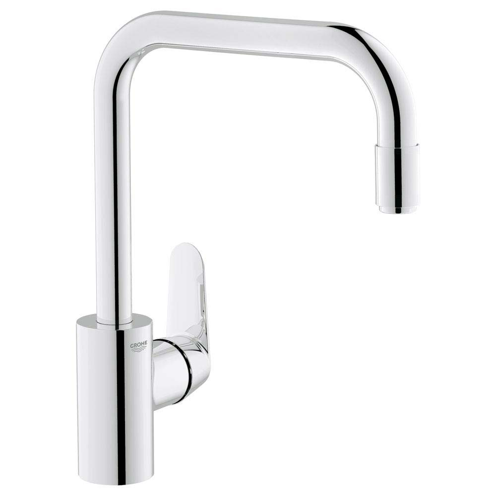 Grohe Eurodisc Cosmopolitan Kitchen Sink Mixer with Pull Out Spray - 31122002 Large Image
