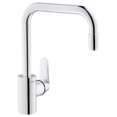 Grohe Eurodisc Cosmopolitan Kitchen Sink Mixer with Pull Out Spray - 31122002