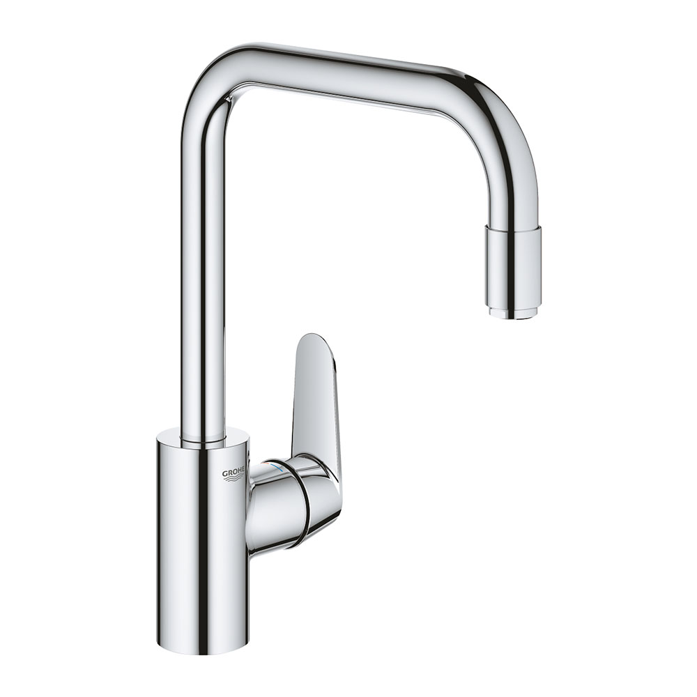 Grohe Eurodisc Cosmopolitan Single-Lever Kitchen Sink Mixer with Pull Out Spray - 31122004