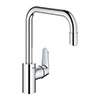 Grohe Eurodisc Cosmopolitan Single-Lever Kitchen Sink Mixer with Pull Out Spray - 31122004 profile small image view 1
