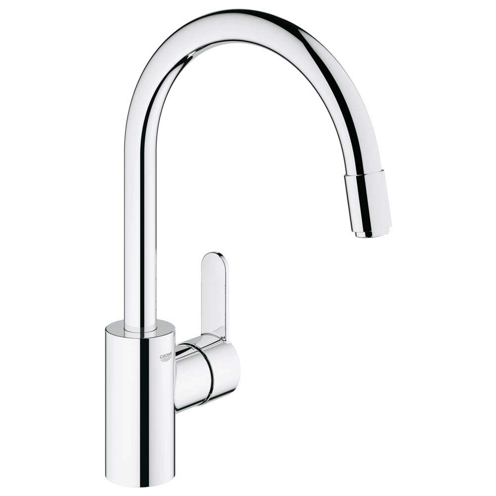 Grohe Eurostyle Cosmopolitan Kitchen Sink Mixer with Pull Out Spray - 31126002 Large Image