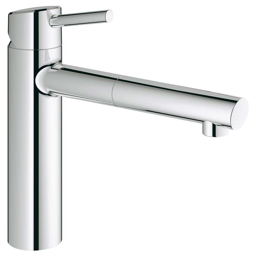 Grohe Concetto Kitchen Sink Mixer with Pull Out Spray - Chrome - 31129001 Large Image
