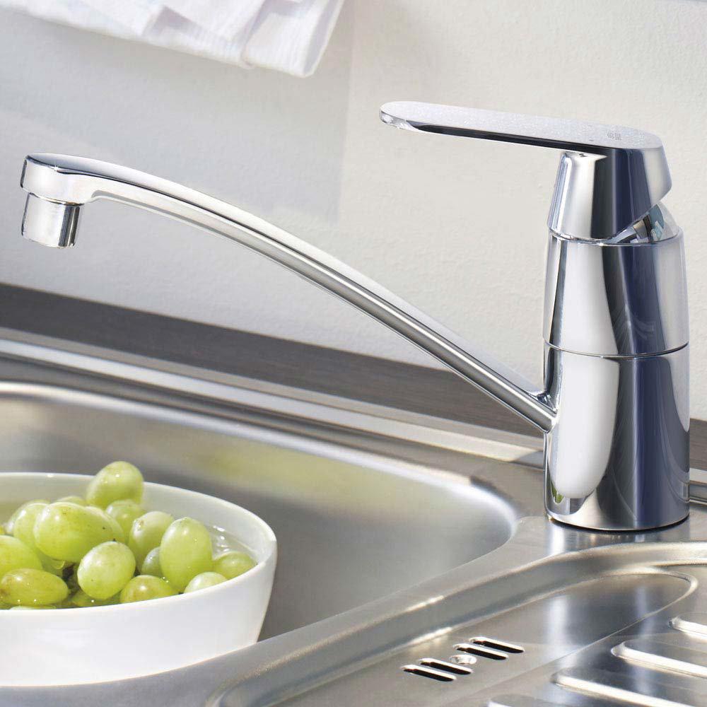 Grohe Eurosmart Cosmopolitan Kitchen Sink Mixer with Shut-Off Valve - 31161000 profile large image view 2