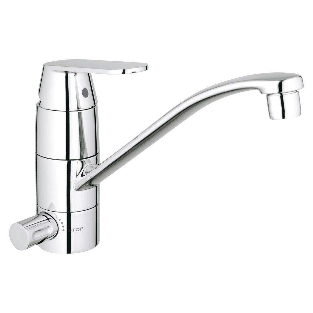 Grohe Eurosmart Cosmopolitan Kitchen Sink Mixer with Shut-Off Valve - 31161000 profile large image view 1