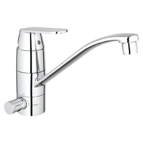 Grohe Eurosmart Cosmopolitan Kitchen Sink Mixer with Shut-Off Valve - 31161000
