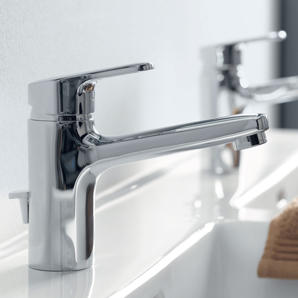 Laufen - City Pro Monobloc Basin Mixer with Pop-up Waste profile large image view 2
