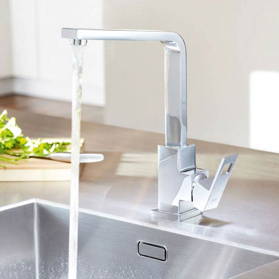 Grohe Eurocube Kitchen Sink Mixer - 31255000 profile large image view 2