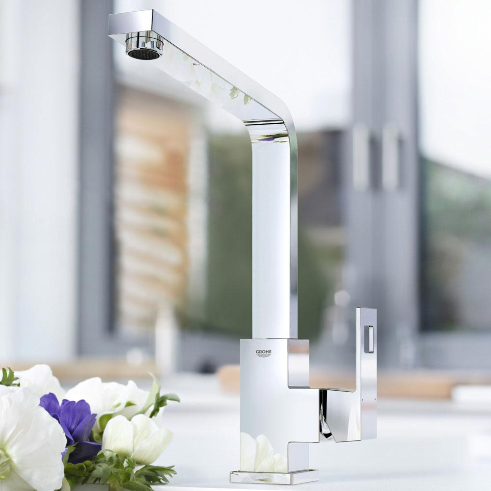 Grohe Eurocube Kitchen Sink Mixer - 31255000 profile large image view 3