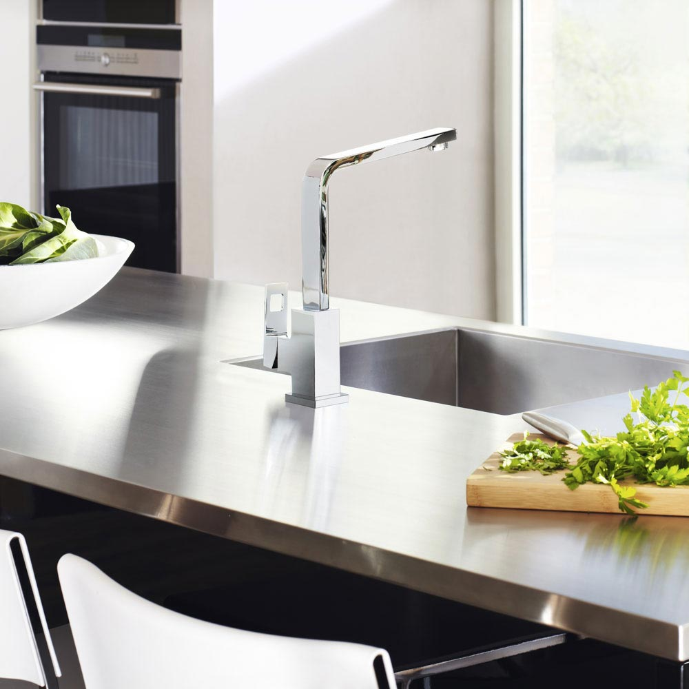 Grohe Eurocube Kitchen Sink Mixer - 31255000 profile large image view 4