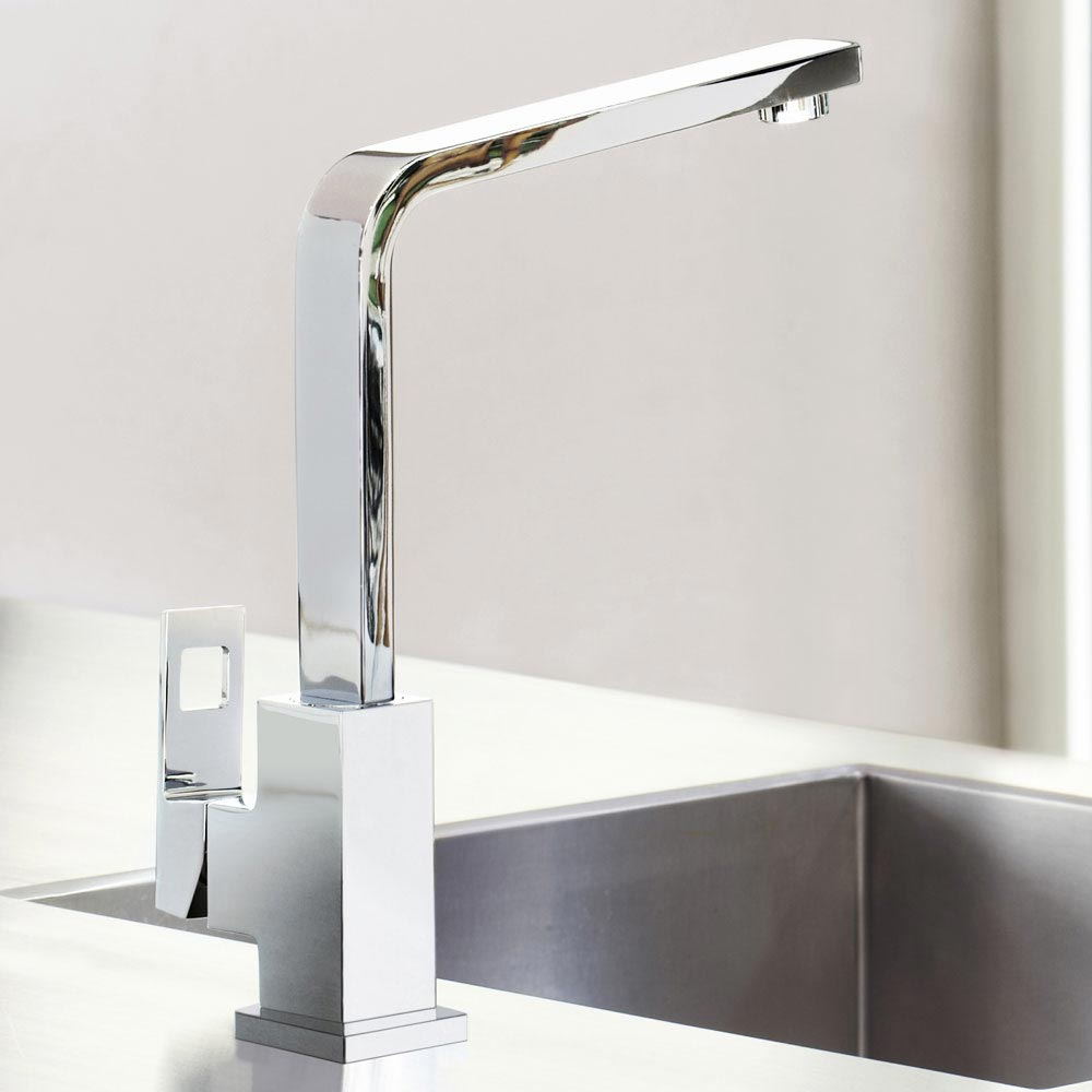 Grohe Eurocube Kitchen Sink Mixer - 31255000 profile large image view 5