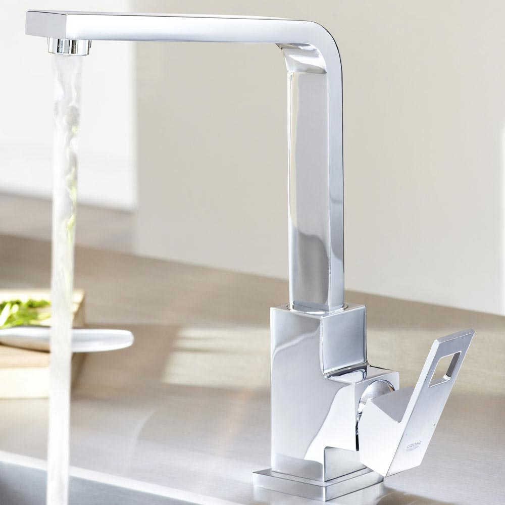 Grohe Eurocube Kitchen Sink Mixer - 31255000 profile large image view 6