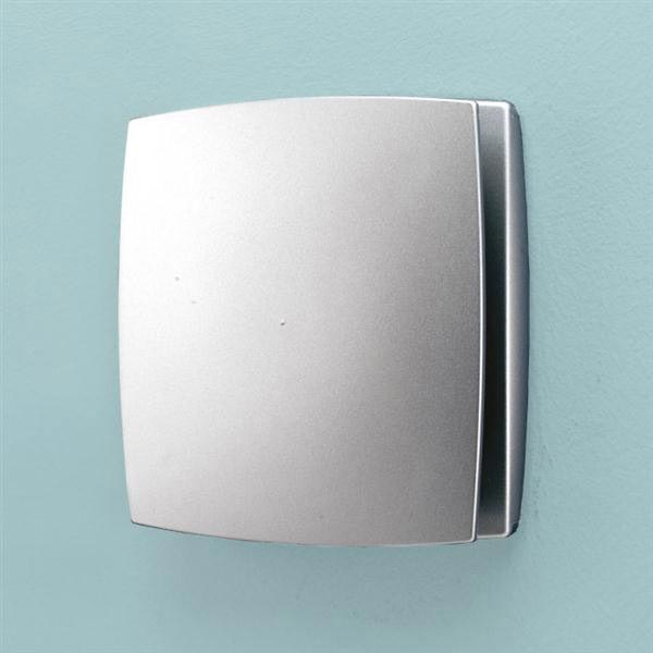 HIB Breeze Wall Mounted Bathroom Fan with Timer - Matt Silver - 31300 profile large image view 1