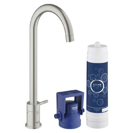 Grohe Blue Mono Pure Starter Kit - SuperSteel - 31301DC1