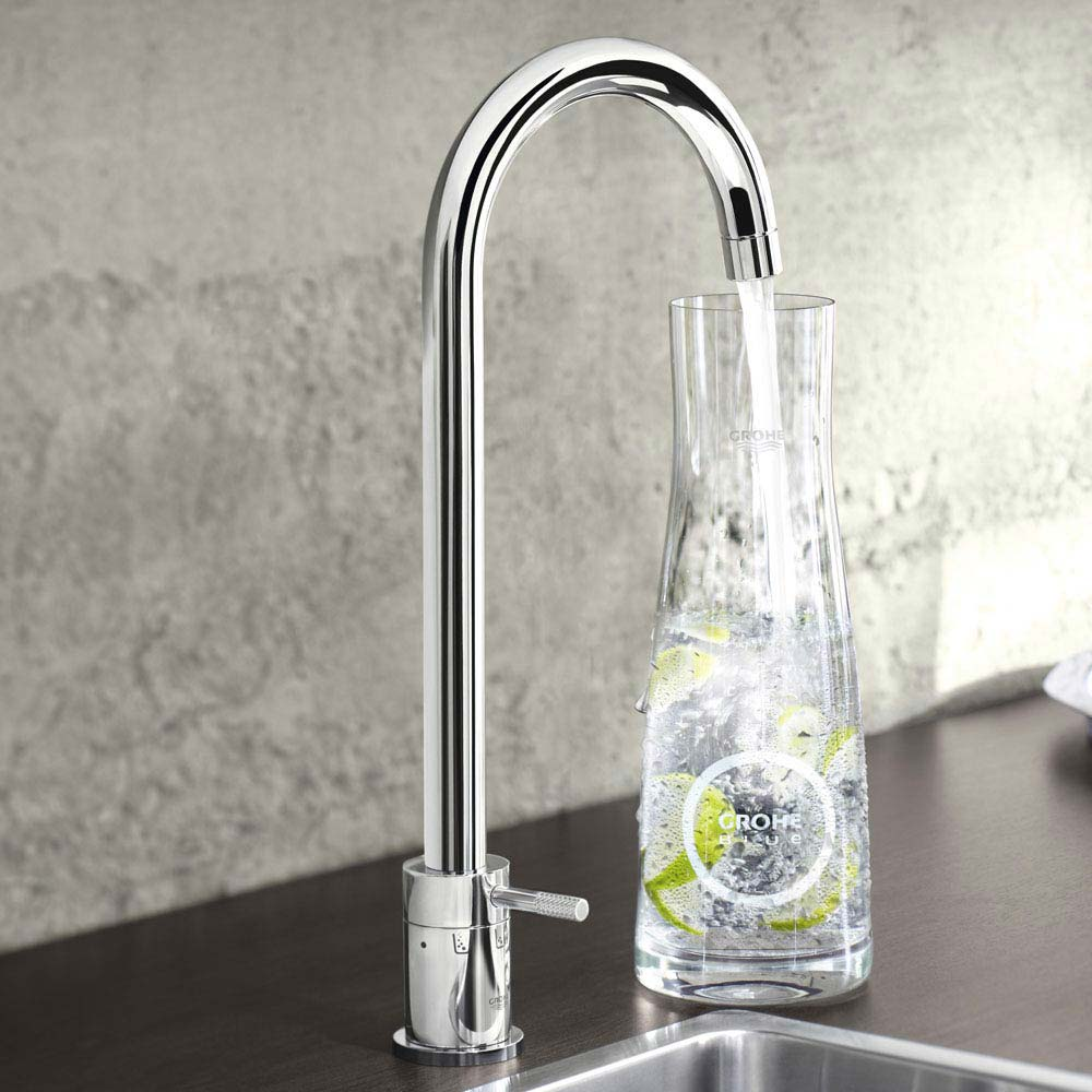 Grohe Blue Chilled & Sparkling Starter Kit with Minta Tap - Chrome - 31302001 profile large image view 3
