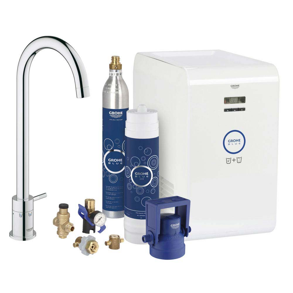 Grohe Blue Chilled & Sparkling Starter Kit with Minta Tap - Chrome - 31302001 Large Image