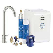 Grohe Blue Chilled & Sparkling Starter Kit with Minta Tap - SuperSteel - 31302DC1 Medium Image