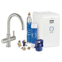 Grohe Blue Chilled & Sparkling Starter Kit with C-Spout Tap - SuperSteel - 31323DC1 Medium Image