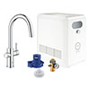 Grohe Blue Professional Duo Starter Kit C-Spout with Pull-Out Spray - Chrome - 31325002 profile small image view 1