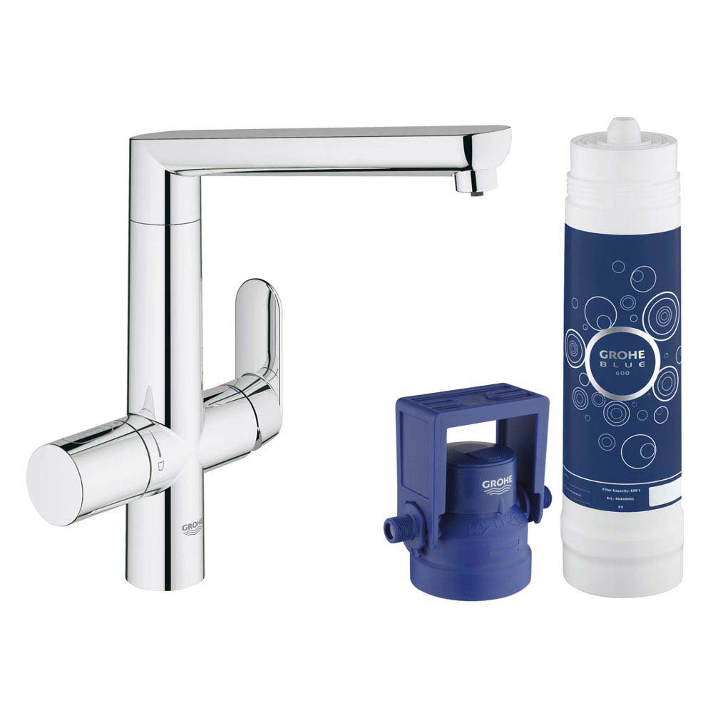 Grohe Blue K7 Pure Starter Kit - Chrome - 31344001 Large Image