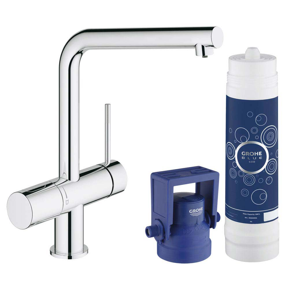 Grohe Blue Minta Pure Starter Kit - Chrome - 31345002 profile large image view 1