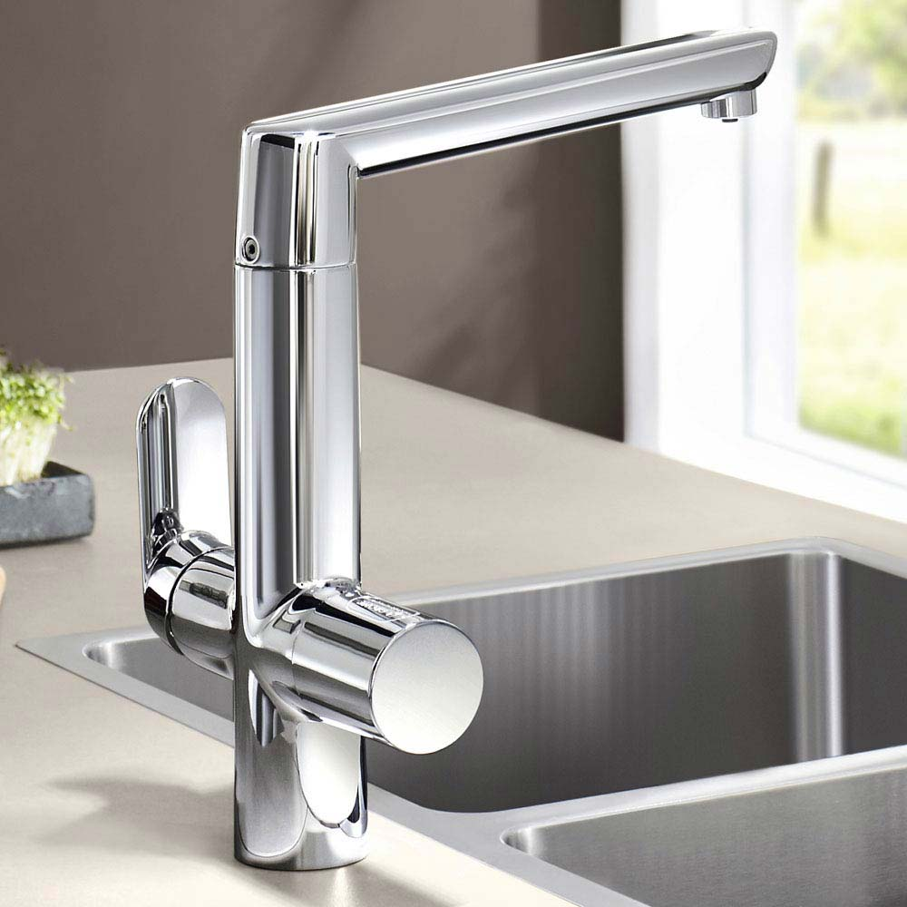 Grohe Blue Chilled & Sparkling Starter Kit with K7 Tap - Chrome - 31346001  Standard Large Image
