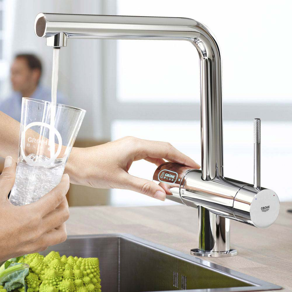Grohe Blue Chilled & Sparkling Starter Kit with Minta Tap - Chrome - 31347002  Profile Large Image